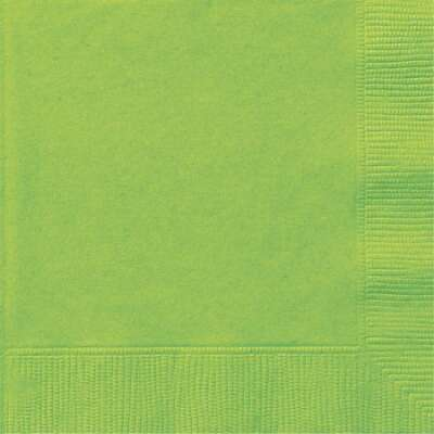 Lime Green 2Ply Plain Napkins – 50PK