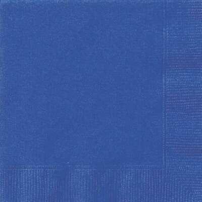 Royal Blue 2Ply Plain Napkins – 50PK