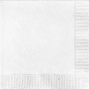 White 2Ply Plain Napkins – 50PK