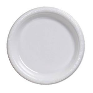 White Round Plain Plates – 25PK