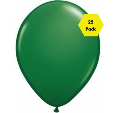 12″ Plain Balloons – Green 25 Pk