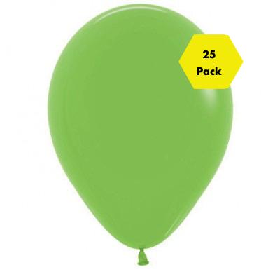 12″ Plain Balloons – Lime Green 25 Pk