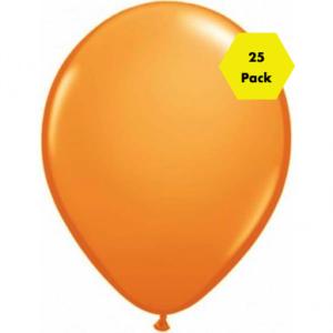 12″ Plain Balloons – Orange 25 Pk