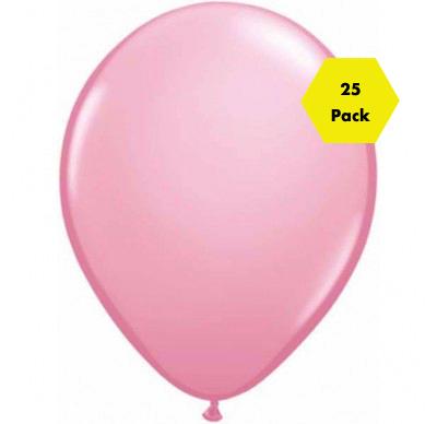 12″ Plain Balloons – Pink 25 Pk