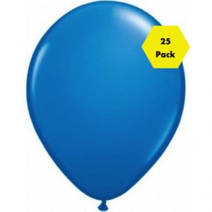 12″ Plain Balloons – Royal Blue 25 Pk