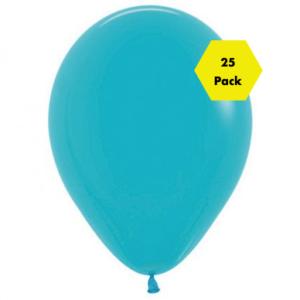 12″ Plain Balloons – Teal 25 Pk