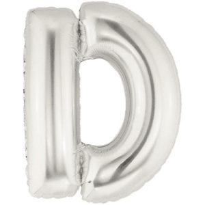 """16″ Letter Foil """"D""""-Silver"""