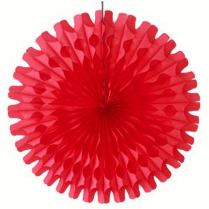 45 cm Red Paper Fan