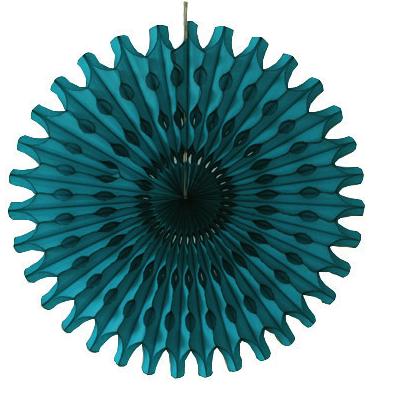 45 cm Teal Paper Fan