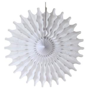 45 cm White Paper Fan