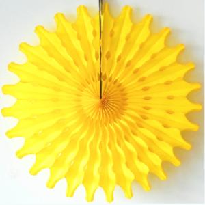 45 cm Yellow Paper Fan