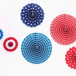 Polka dots & Stripes Party Fan