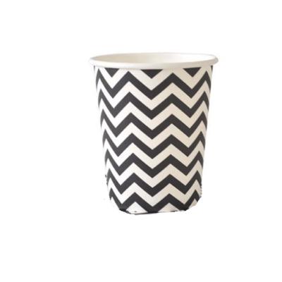 Black Chevron Cups – 12PK