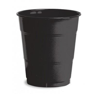 Black Plain plastic Cups – 25PK