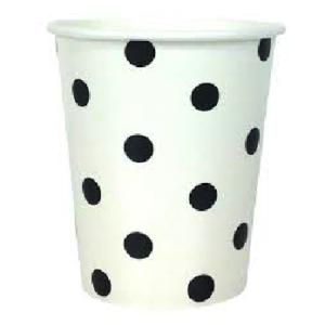 Black Polka Dot Cups – 12PK