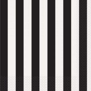 Black Stripe Napkins – 20PK