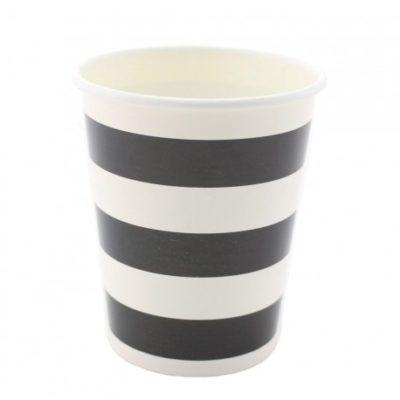 Black Stripes cups – 12PK