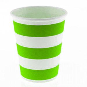 Green Stripes cups – 12PK