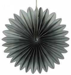 30 cm Grey Paper Fan