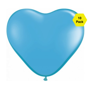 12″ Heart Shaped Balloons – Light Blue 10 Pk