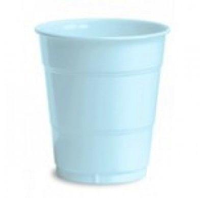 Light Blue Plain plastic Cups – 25PK