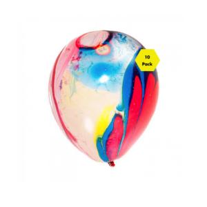 Rainbow Marble Balloons- 10pk