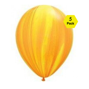 Marble Balloons – Yellow 5 Pk