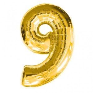 32″ Number Foil (0 – 9)- Gold – 9