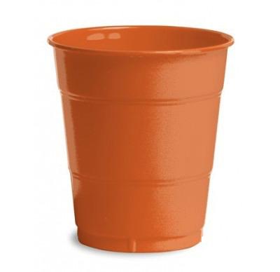 Orange Plain plastic Cups – 25PK