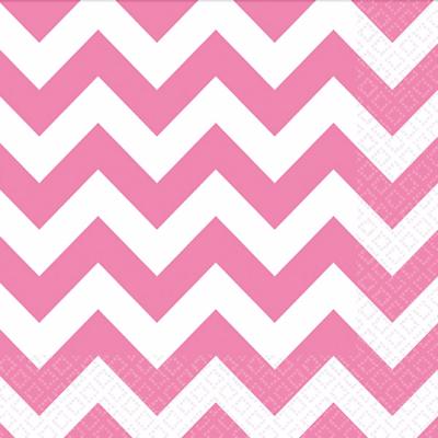 Pink Chevron Napkins – 20PK