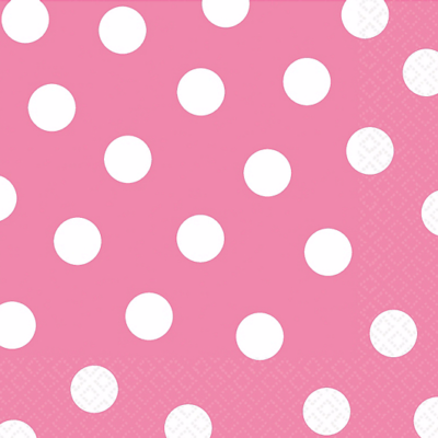 Pink Polka Dot Napkins – 20PK