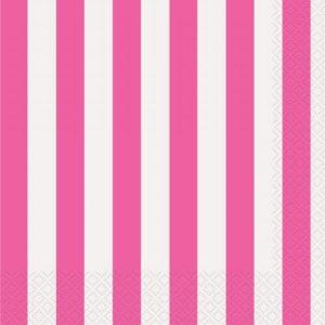 Pink Stripe Napkins – 20PK
