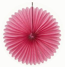 30 cm Pink Paper Fan