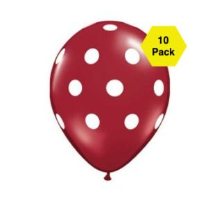 Polka Latex Balloons – Brown 10 Pk