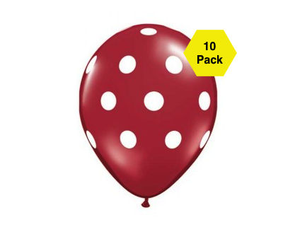 Polka Latex Balloons – Brown 10 Pk