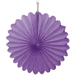 30 cm Purple Paper Fan