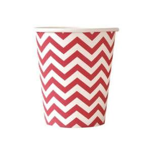 Red Chevron Cups – 12PK