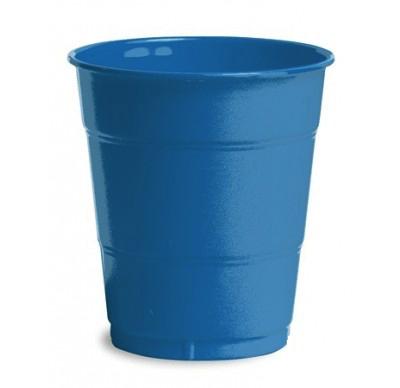 Royal Blue Plain plastic Cups – 25PK