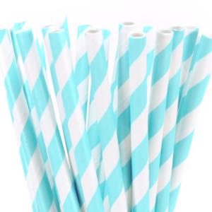 Stripe paper Straws – Blue 25 Pk