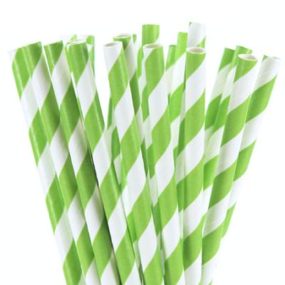 Stripe paper Straws – Green 25 Pk