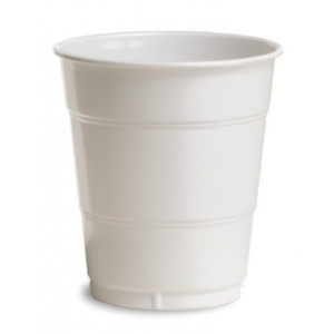 White Plain plastic Cups – 25PK
