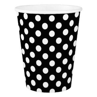 White Polka Dot, Black cups – 12PK