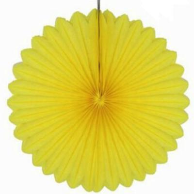 30 cm Yellow Paper Fan