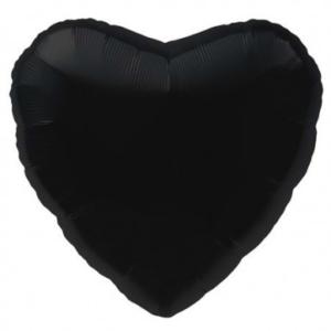 Heart Foil Balloons 45cm – Black