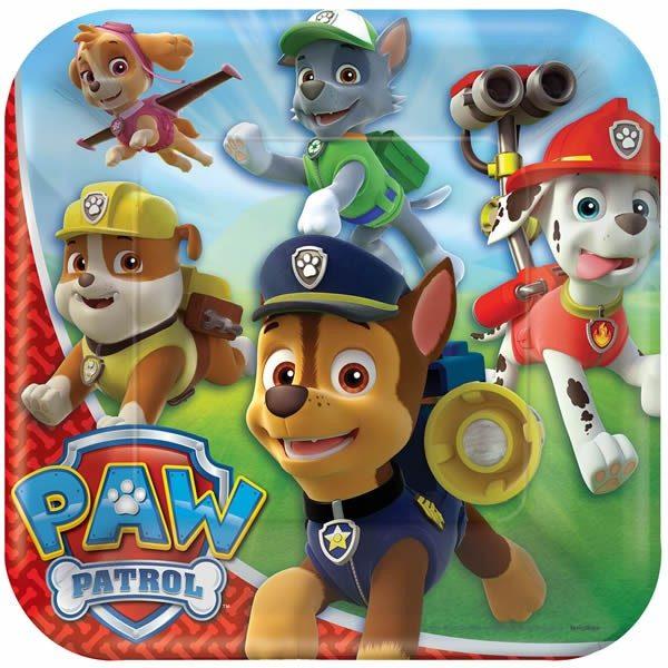 Paw Patrol Dinner Square Plates