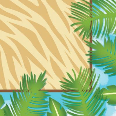 Jungle Safari Adventure Beverage Napkins – 16Pk