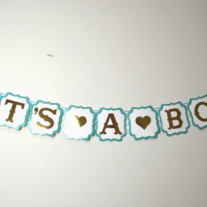 It's a Boy Party Banner