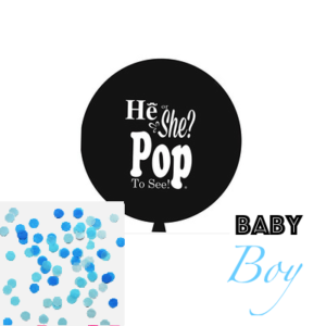90 Cm Jumbo Gender Reveal Boy (Balloon + Confetti) – Blue