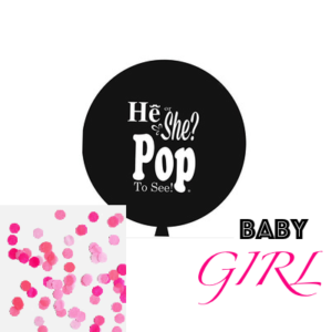90 Cm Jumbo Gender Reveal Girl (Balloon + Confetti) – Pink