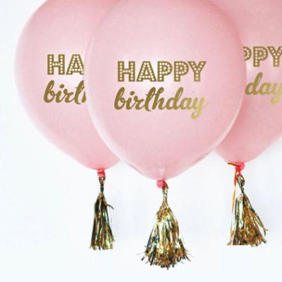 Happy Birthday, printed Latex Balloons – Pink (3Pk)